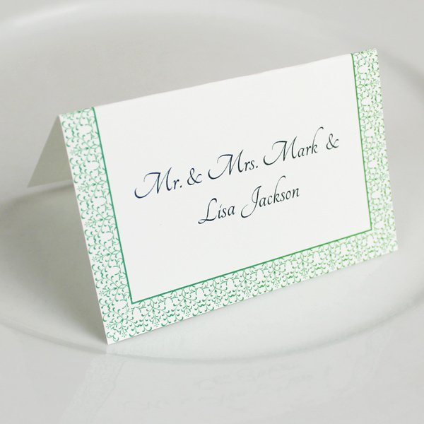Placement Card Templates Free Unique Vintage Reception Place Card Template