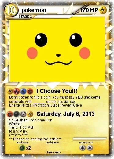 Pokemon Birthday Card Template Beautiful My Pokemon Birthday Invitation