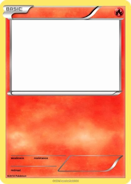 Pokemon Birthday Card Template Fresh Blank Fire Pokemon Cards Images theme Pokemon
