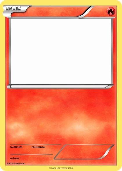 Pokemon Birthday Card Template Fresh Blank Fire Pokemon Cards Images theme Pokemon