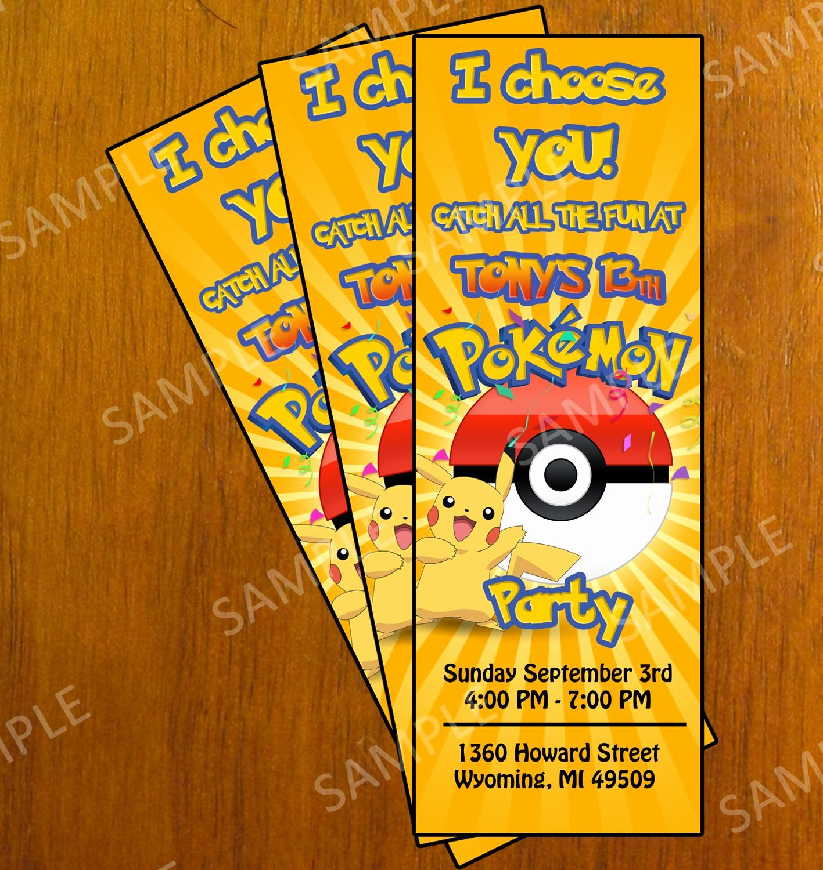 Pokemon Birthday Card Template Fresh Free Printable Pokemon Invitation Cards