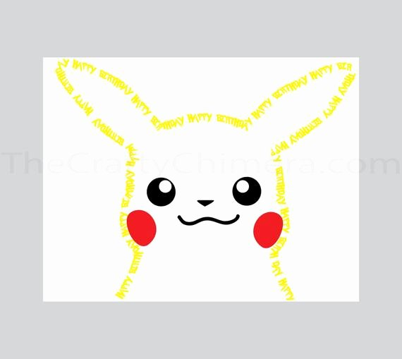 Pokemon Birthday Card Template Fresh Pikachu Printable Birthday Card Pokemon