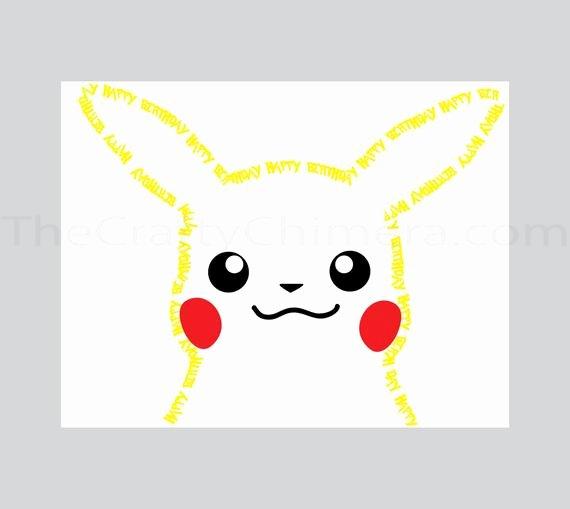 Pokemon Birthday Card Template Fresh Pikachu Printable Birthday Card Pokemon