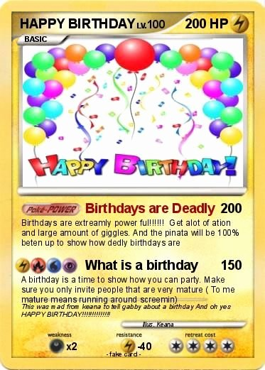 Pokemon Birthday Card Template Lovely Pokémon Happy Birthday 34 Birthdays are Deadly My Pokemon