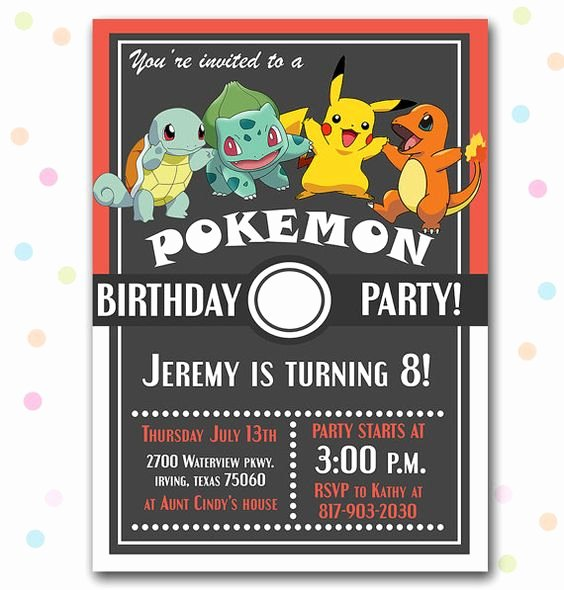 Pokemon Card Birthday Invitation Beautiful 12 Superb Pokemon Birthday Invitations
