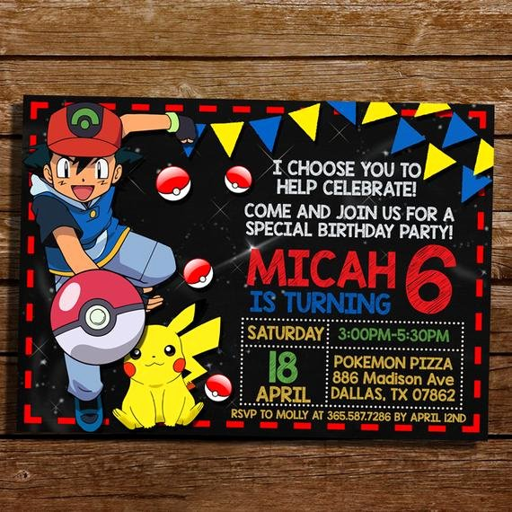 Pokemon Card Birthday Invitation Beautiful Pokemon Birthday Invitation Pokemon Birthday by