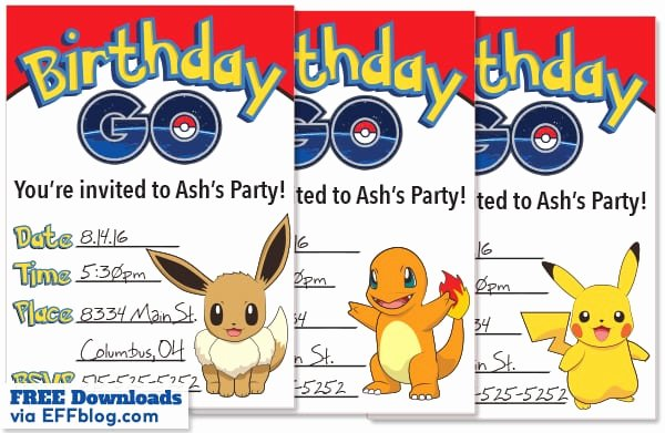 Pokemon Card Birthday Invitation Best Of Free Pokemon Birthday Invitations