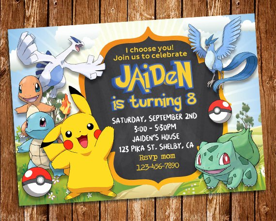 Pokemon Card Birthday Invitation Best Of Pokemon Invitation Pokemon Party Pokemon Birthday Party