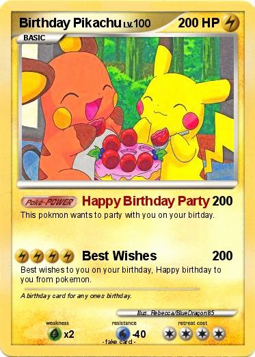 Pokemon Card Birthday Invitation Elegant Pokémon Birthday Pikachu 38 38 Happy Birthday Party My