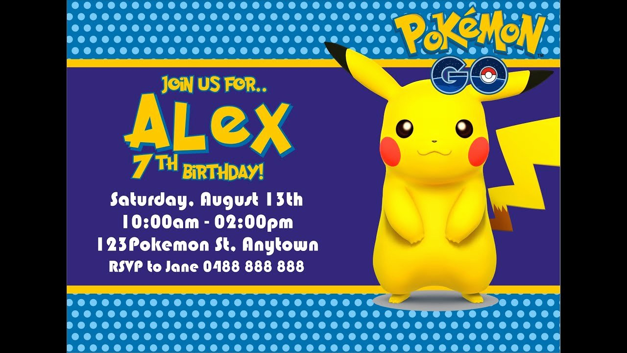 Pokemon Card Birthday Invitation Fresh How to Make Pokemon Go Birthday Invitation In Coreldraw