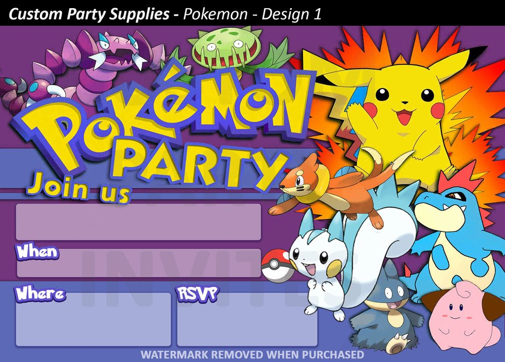Pokemon Card Birthday Invitation Inspirational Pokemon Birthday Party Invitations 8 Pack Australia