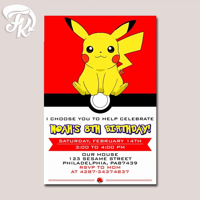 Pokemon Card Birthday Invitation Luxury 1000 Ideas About Pokemon Birthday Card On Pinterest