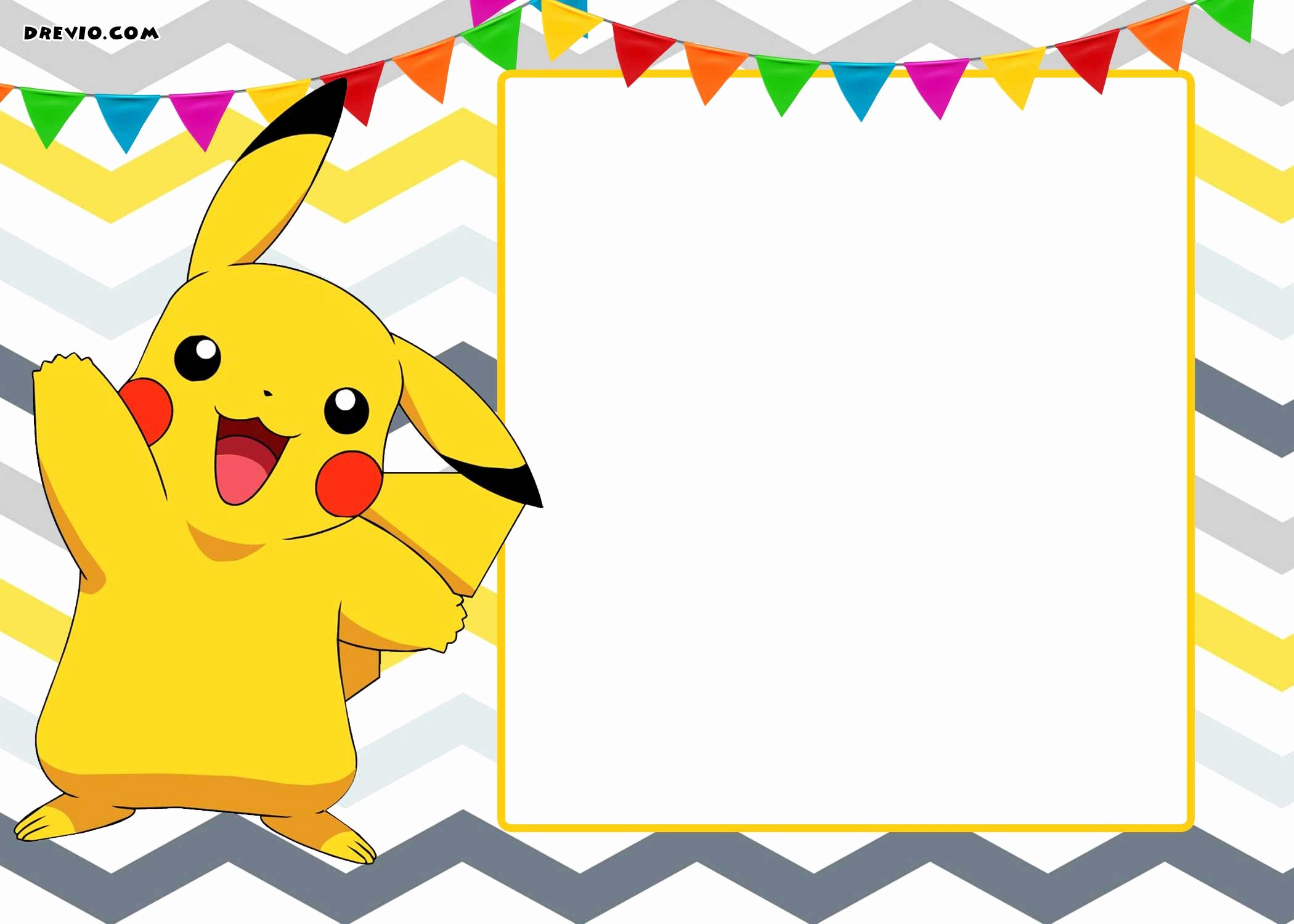 Pokemon Card Birthday Invitation New Free Printable Pokemon Invitation Templates Free