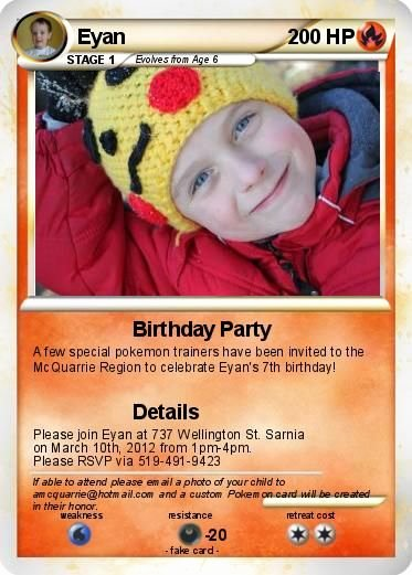 Pokemon Card Birthday Invitation Unique Create Your Own Pokemon Cards Eyan is Going to Love