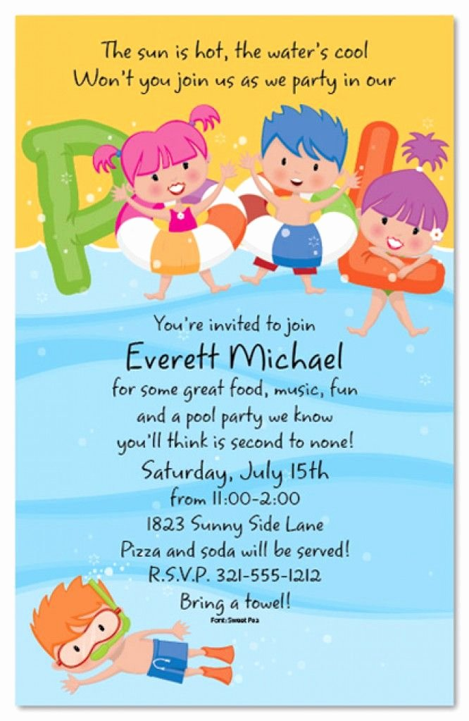 Pool Party Invitations Free Printable Awesome Free Printable Kids Pool Party Invitations Templates 4