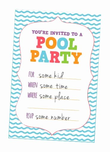 Pool Party Invitations Free Printable Awesome Fun Kids Pool Party Invites