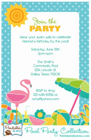 Pool Party Invitations Free Printable Beautiful Floral & Stripes Garden Birthday Party Collection