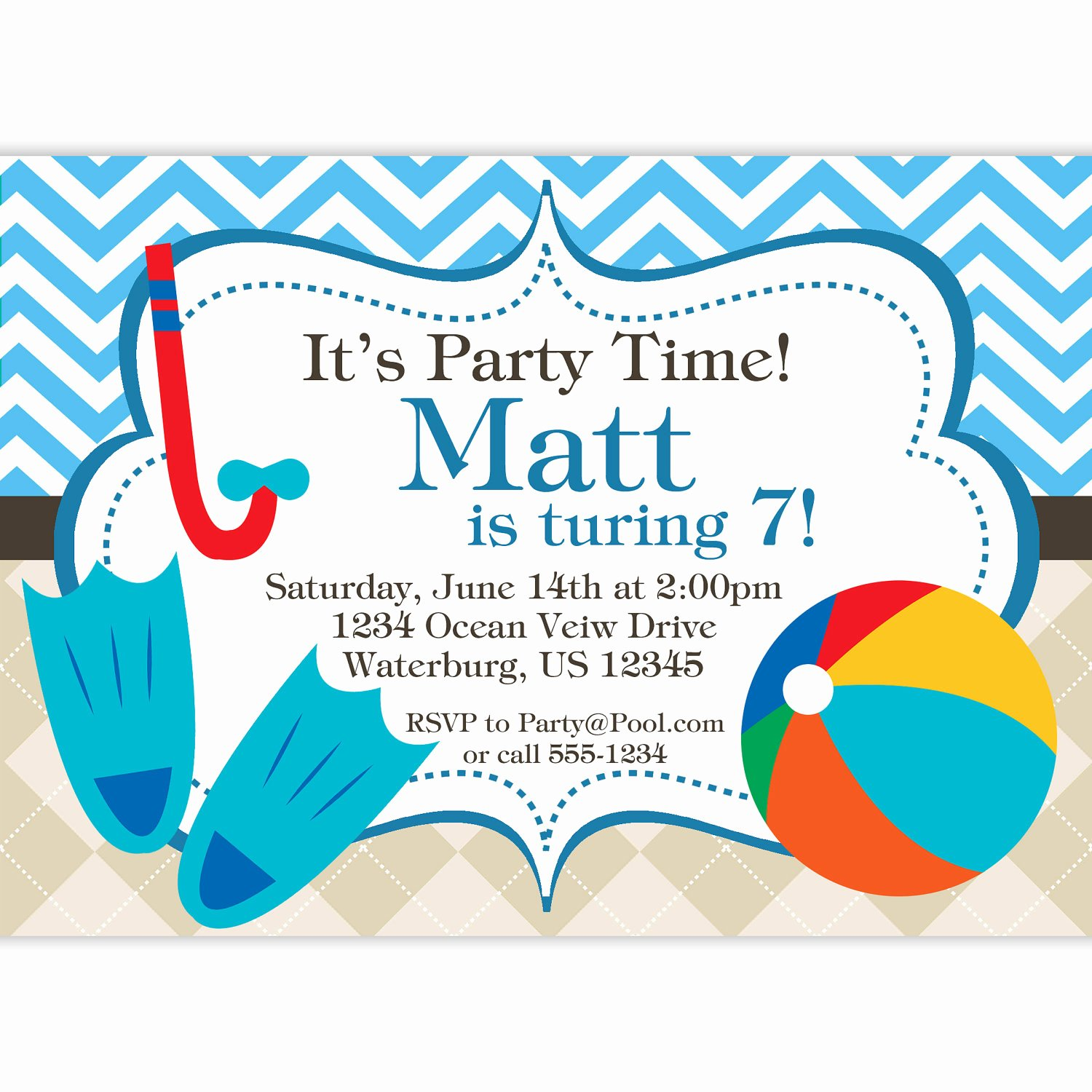 Pool Party Invitations Free Printable Best Of Free Printable Birthday Pool Party Invitations