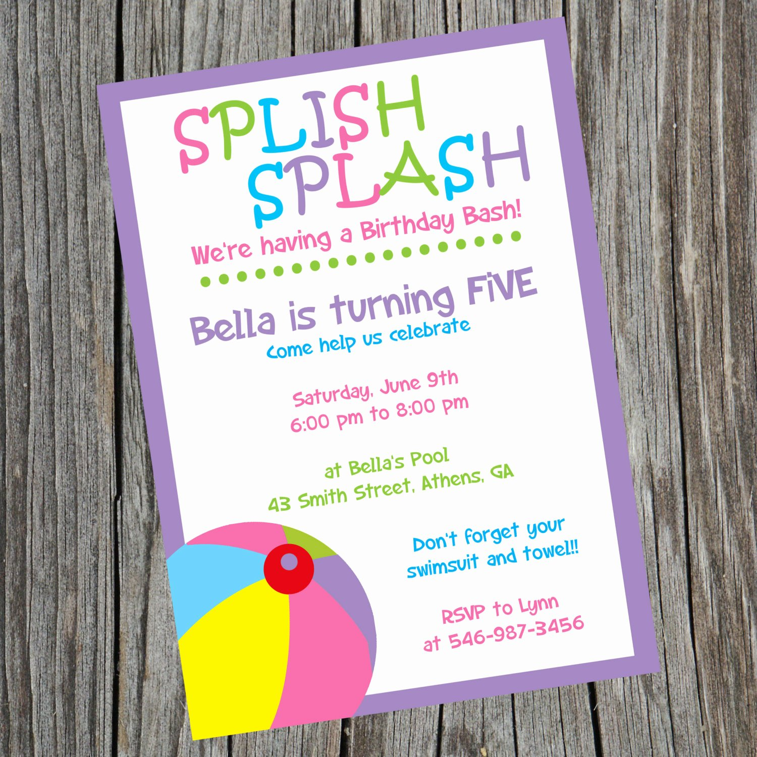 Pool Party Invitations Free Printable Best Of Pool Party Invitation Pool Party Swimming Party Invite