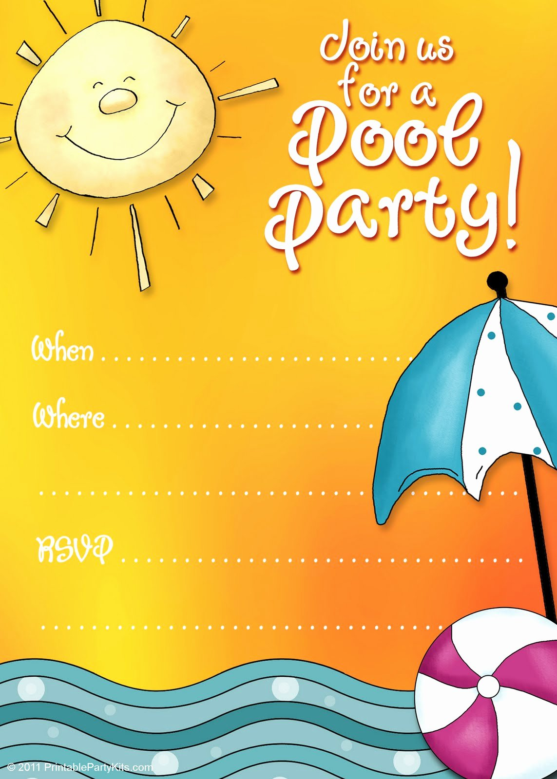 Pool Party Invitations Free Printable Fresh Free Printable Party Invitations Summer Pool Party Invites