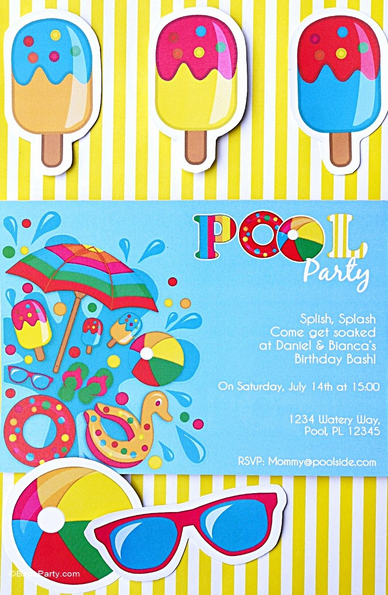 Pool Party Invitations Free Printable Inspirational Pool Party Ideas & Kids Summer Printables Party Ideas