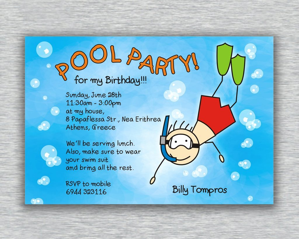 Pool Party Invitations Free Printable Lovely Pool Party Invitation Ideas
