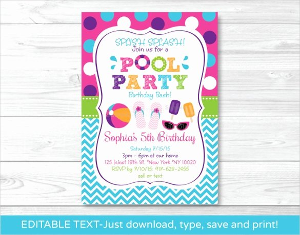 Pool Party Invitations Free Printable Luxury 36 Pool Party Invitation Templates Psd Ai Word