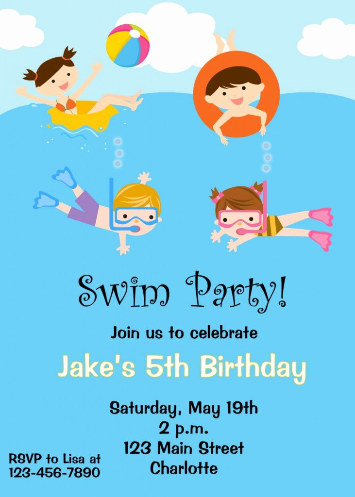 Pool Party Invitations Free Printable New Free Printable Birthday Pool Party Invitations