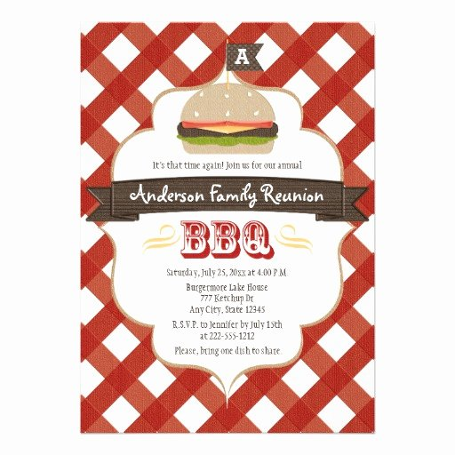 Potluck Bbq Invitation Wording Awesome Monogrammed Family Reunion Bbq Personalized Invites