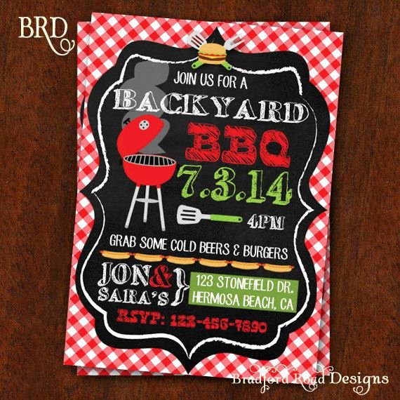 Potluck Bbq Invitation Wording Beautiful Bbq Invitation Backyard Bbq Barbecue Party by