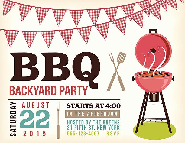 Potluck Bbq Invitation Wording Beautiful Best Potluck Illustrations Royalty Free Vector Graphics