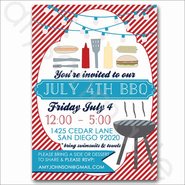 Potluck Bbq Invitation Wording Best Of 12 Potluck Party Invitation Designs & Templates Psd Ai