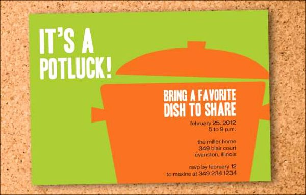Potluck Bbq Invitation Wording Inspirational 14 Farewell Potluck Invitations Jpg Vector Eps Ai
