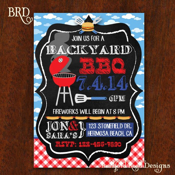 Potluck Bbq Invitation Wording Inspirational Bbq Invitation Backyard Bbq Barbecue Party Fourth Of July