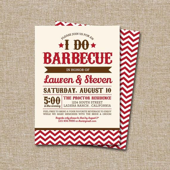 Potluck Bbq Invitation Wording Inspirational I Do Bbq Invitation This Listing is by Jraecardart $15
