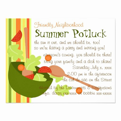 Potluck Bbq Invitation Wording Lovely A Fun and Delicious Salad Invitations