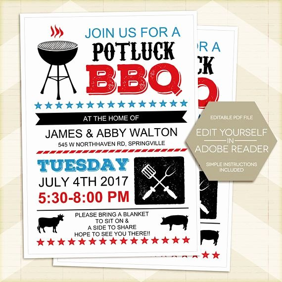 Potluck Bbq Invitation Wording Luxury Bbq Invitation Neighborhood Block Party Invitation