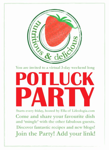 Potluck Party Invitation Wording New Potluck Party Protein Rich Vegan Recipes Pure Ella