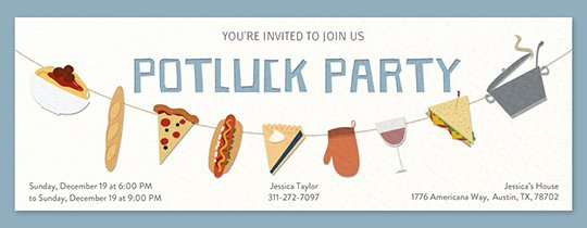 Potluck Party Invitations Wording Beautiful Free Potluck Invitations