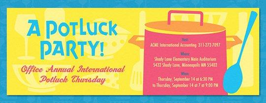 Potluck Party Invitations Wording Best Of Free Potluck Invitations