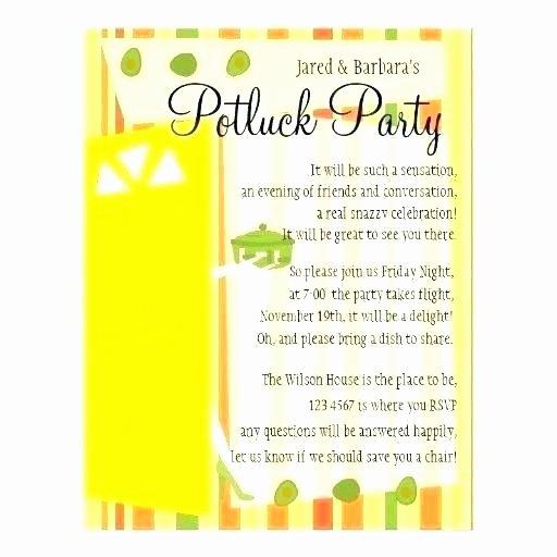 Potluck Party Invitations Wording Unique Potluck Party Invitation