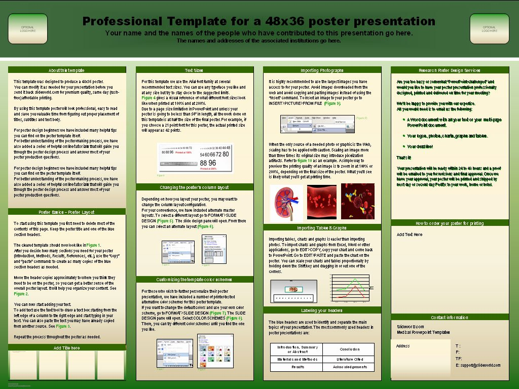 Power Point Poster Template Inspirational Powerpoint Research Poster Template
