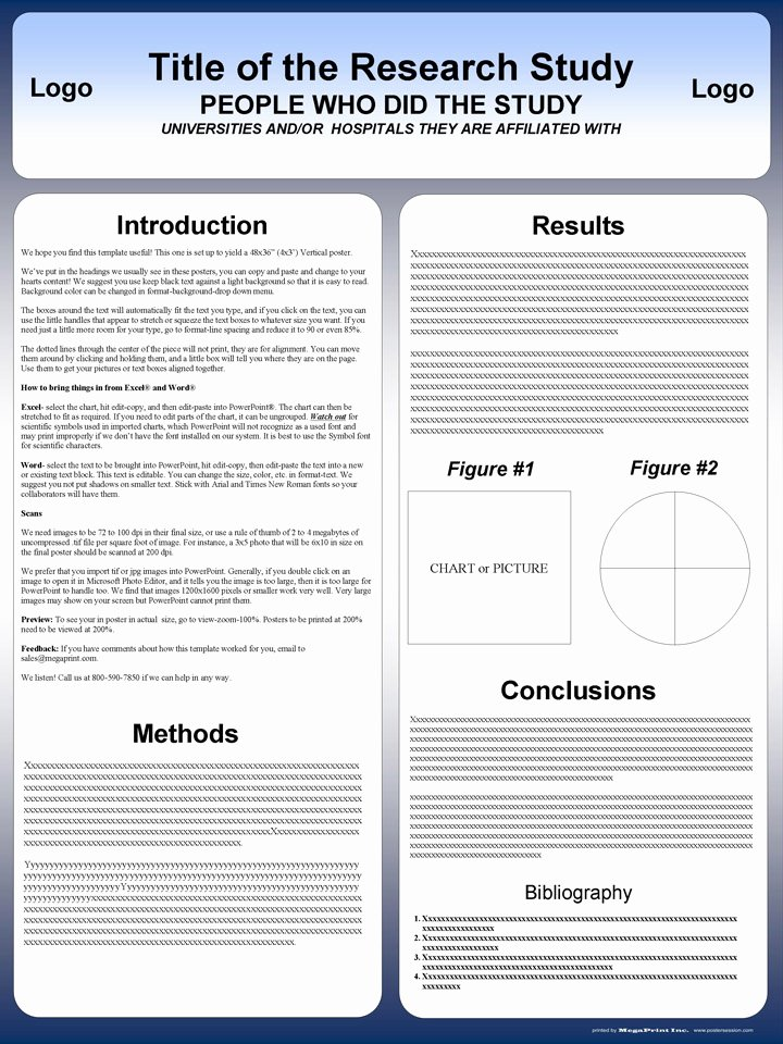Power Point Poster Template New Free Powerpoint Scientific Research Poster Templates for