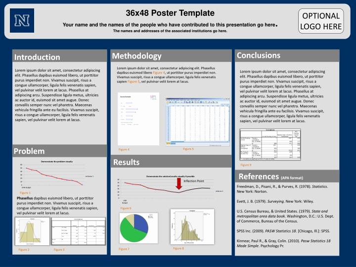 Powerpoint Research Poster Template Awesome Ppt 36x48 Poster Template Powerpoint Presentation Id
