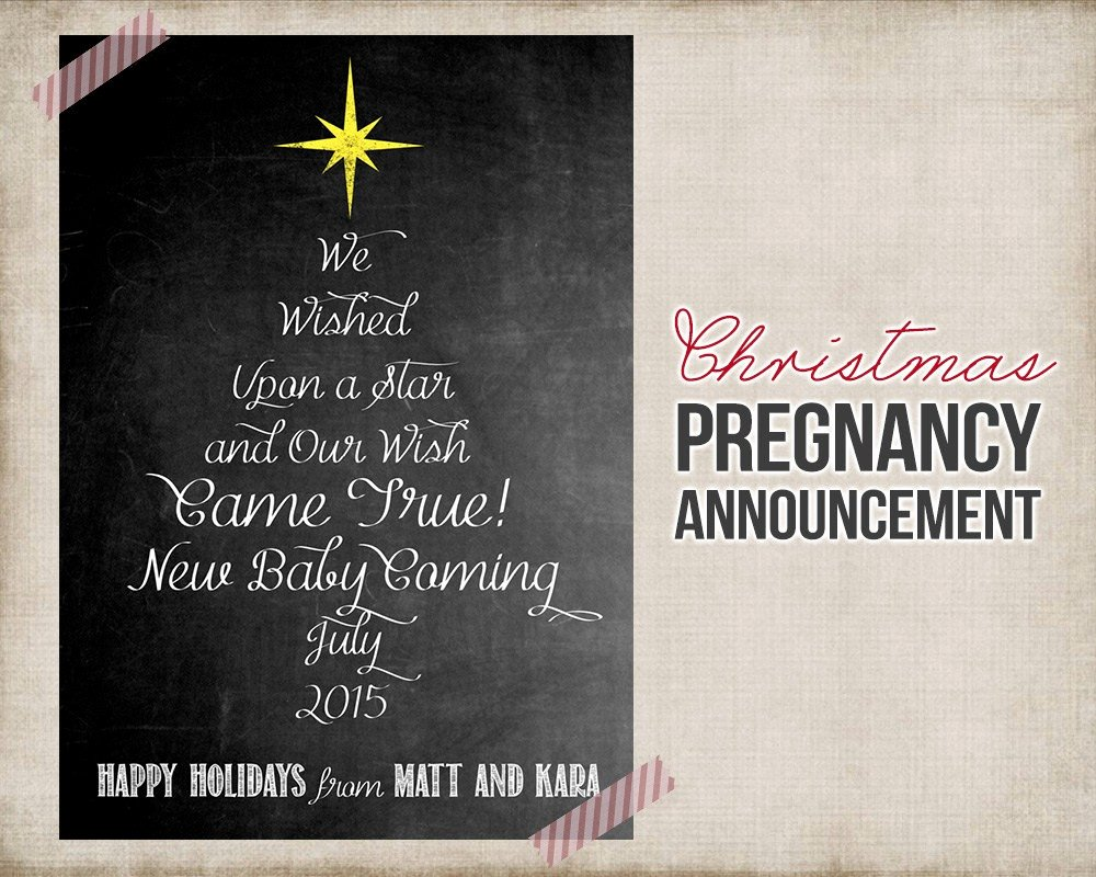 Pregnancy Announcement Cards Free Template Best Of Pregnancy Announcement Christmas Cards