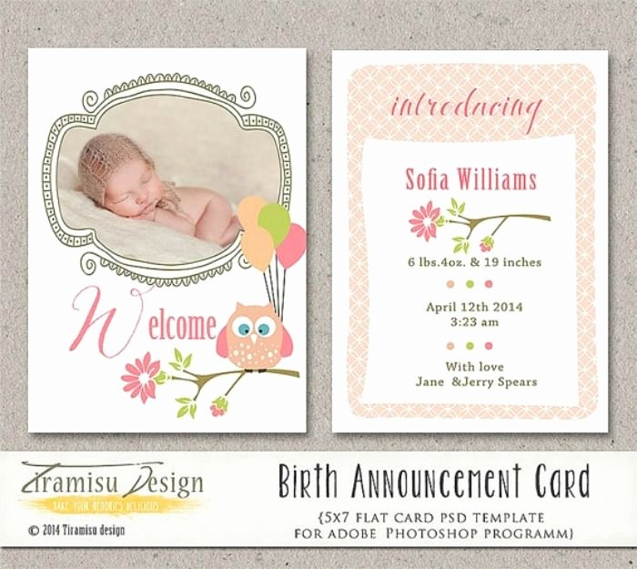 Pregnancy Announcement Cards Free Template Inspirational 5 Places to Find Downloadable Birth Announcement Templates