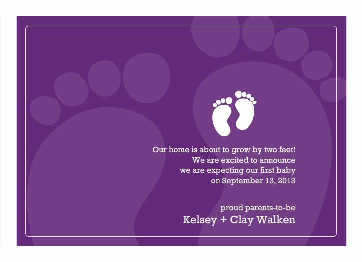 Pregnancy Announcement Cards Free Template New Free Printable Pregnancy Announcement Templates