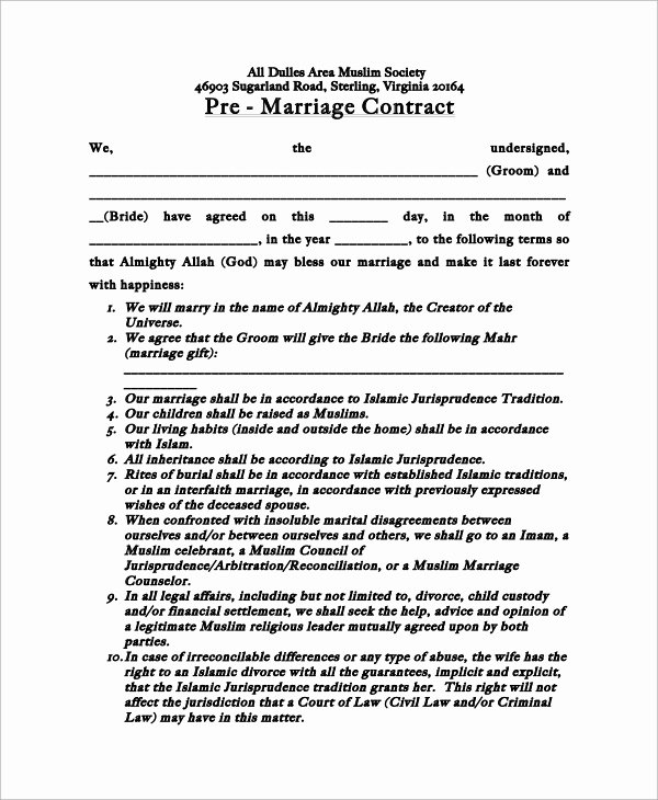 Prenuptial Agreement Massachusetts Sample Luxury Pre Marriage Agreement