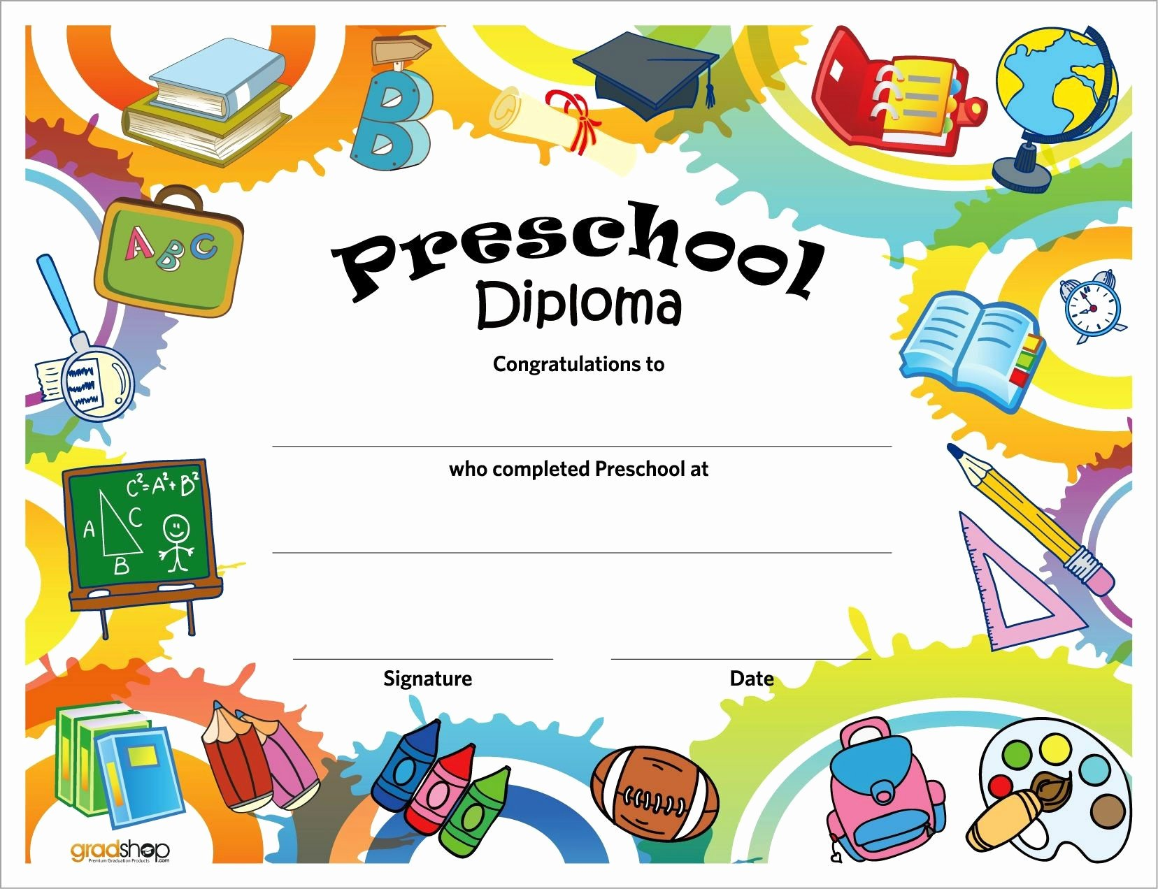 Preschool Diploma Template Word Awesome 11 Preschool Certificate Templates Pdf