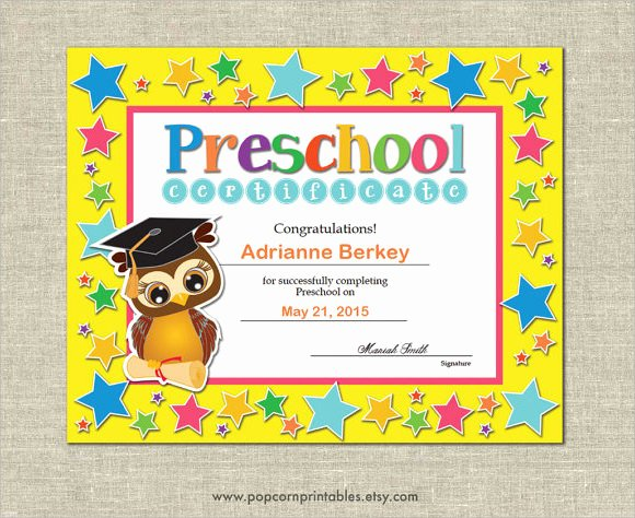 Preschool Diploma Template Word Best Of 20 Graduation Certificates Psd Word Ai Indesign